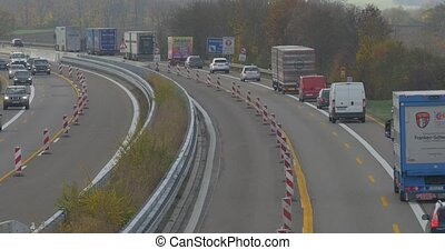 Traffic on german Autobahn