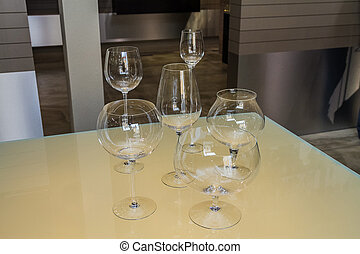 Stemware on table