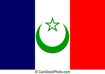 French Morocco flag - French Protectorate of Morocco...