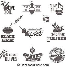 Olives label set