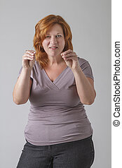 Stop nip picking - Really annoyed red hair woman in her...