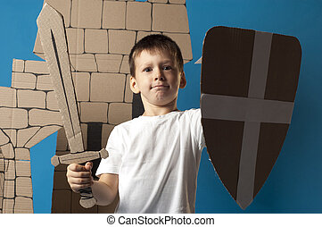 medieval knight child - photo of the child on the medieval...