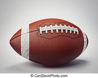 football ball isolated on a grey background
