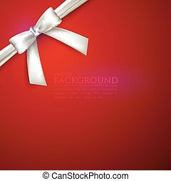 red background with white bow