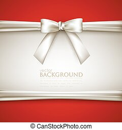 vector background with white bow