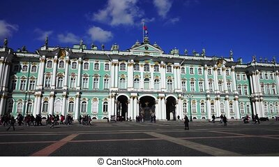 Hermitage museum at Palace square, Saint Petersburg - SAINT...