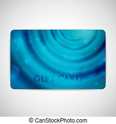 blue gift card with sparkles