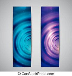 set of abstract holiday glowing banners