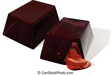 Chocolate candy - Vector illustration of chocolate yummy...