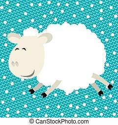 Vector funny sheep - Vector illustration of funny sheep...