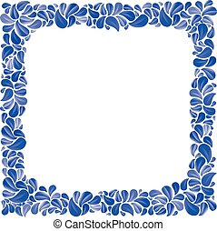 Blue natural decorative framing with leaves, best for...