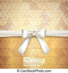 golden background with white bow