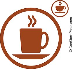 Tea and coffee cups icons.