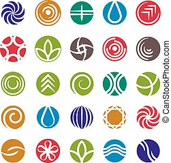 Abstract icon set, vector symbols collection