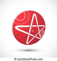 Star symbol , abstract icon, 3d vector symbol