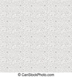 Vector abstract seamless pattern with swirls.