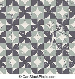 Geometric seamless pattern with diamonds and crosses,...
