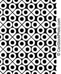 Black and white vector ornamental seamless pattern with...