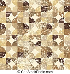 Vintage tattered seamless pattern, vector overlapping...