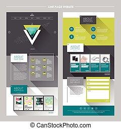 moderne, géométrique, une, page, site web,...