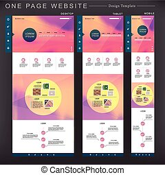 romantic one page website template design with blurred...
