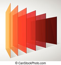 Perspective colorful abstract rectangles on white background...