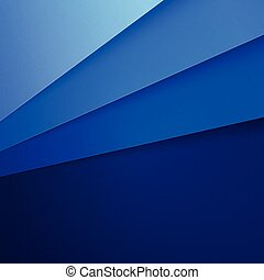 Blue paper layers abstract background RGB EPS 10 vector...