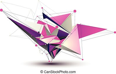 Magenta contemporary eps8 technology construction, abstract...