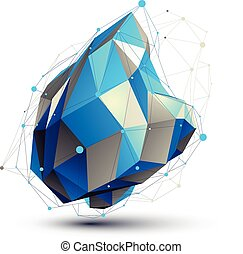 Geometric vector abstract 3D complicated lattice figure,...