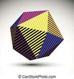 Saturated abstract 3D spherical vector contrast pattern,...