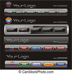 Website button bars set template