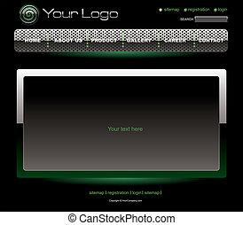 Website green chrome template