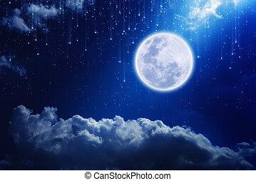 Lleno, luna,