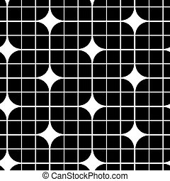 Black and white abstract geometric seamless pattern,...