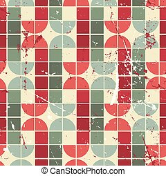 Vintage bright geometric seamless pattern, vector abstract backg