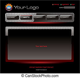 Website red chrome template
