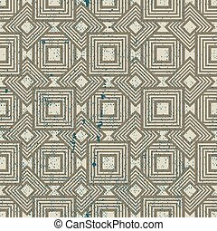 Old geometric seamless pattern, vintage vector repeat...