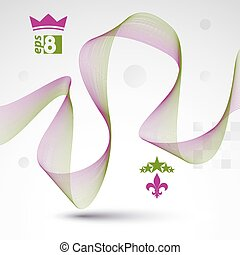 Sophisticated 3d waved decoration, clear eps 8 vector...
