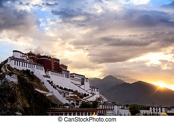 Potala palace - Potala Palace at sunrise, Lhasa, Tibet