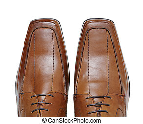 Shoes - Men\'s new brown leather dress shoes