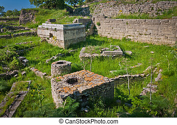 Ruins of the City of Troy - Portion of the Ancient City of...