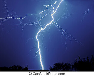 Lightening thunderstorm - Lightening in thunderstorm at...