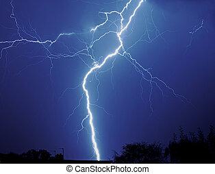 Lightening thunderstorm - Lightening in thunderstorm at...