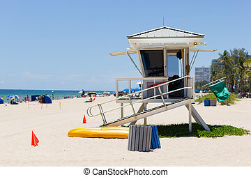 Life guard tower, Fort Lauderdale - Life guard tower at Fort...