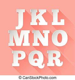 Paper alphabet. Part 2
