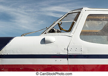 airplane cabin - vintage airplane cockpit with white...
