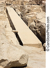The unfinished obelisk, Aswan, Egypt - The unfinished...