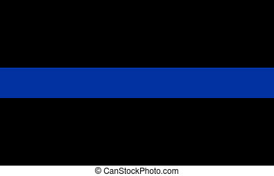 thin blue line flag law enforcement symbol