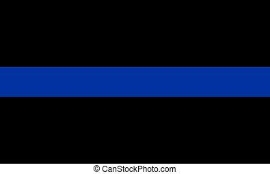 thin blue line flag law enforcement symbol