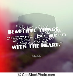 Motivational poster - The best and most beautiful things in...